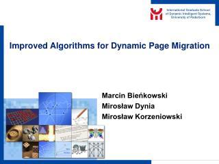 Improved Algorithms for Dynamic Page Migration