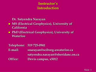 Instructor s Introduction