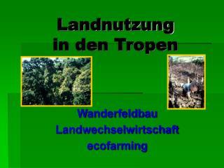Landnutzung  in den Tropen