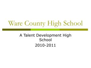 Ware County High School