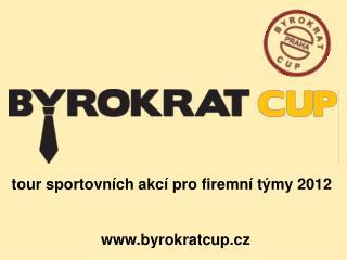 tour sportovních akcí pro firemní týmy 2012 byrokratcup.cz