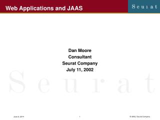 Web Applications and JAAS
