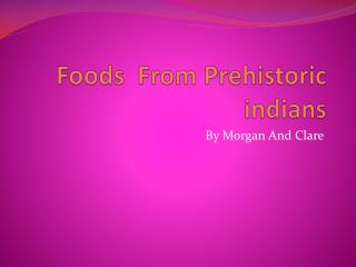 Foods  From Prehistoric  indians