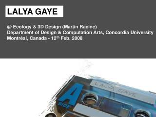 @ Ecology & 3D Design (Martin Racine)