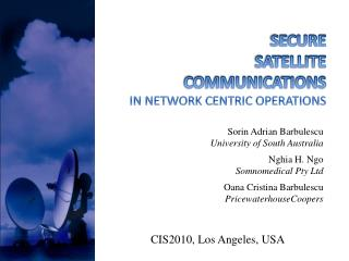 SECURE  SATELLITE  COMMUNICATIONS  IN NETWORK CENTRIC OPERATIONS