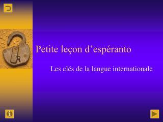 Petite leçon d'espéranto