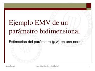 Ejemplo EMV de un parámetro bidimensional