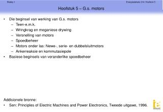 Hoofstuk 5 – G.s. motors