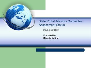 State Portal Advisory Committee Assessment Status