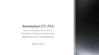 Automation (21-541)