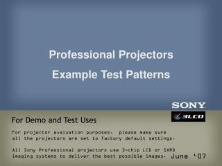 For Demo and Test Uses