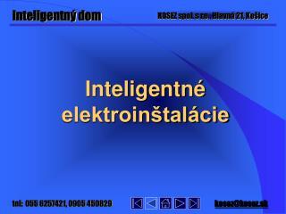 Inteligentné elektroinštalácie