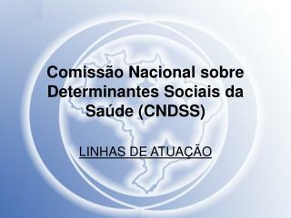 Comiss�o Nacional sobre Determinantes Sociais da Sa�de (CNDSS)