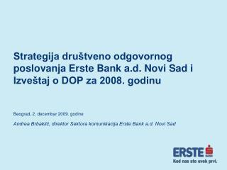 Beograd, 2. decembar 2009. godine
