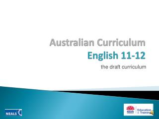 Australian Curriculum  English 11-12
