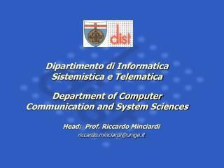 Dipartimento di Informatica Sistemistica e Telematica