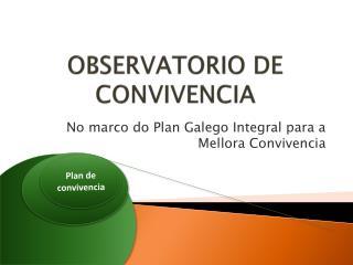 OBSERVATORIO DE CONVIVENCIA