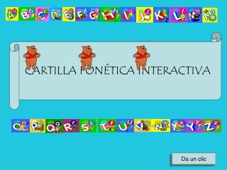 CARTILLA FON TICA INTERACTIVA