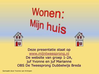 Deze presentatie staat op  mijntweesprong.nl De website van groep 1-2A,