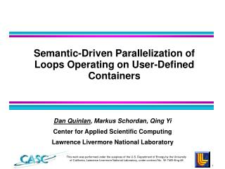 Semantic-Driven Parallelization of Loops Operating on User-Defined Containers