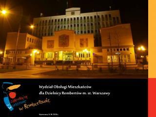 Wydział Obsługi Mieszkańców dla Dzielnicy Rembertów m. st. Warszawy