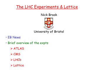 Nick Brook University of Bristol