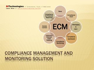 Compliance Management and Monitoring Solution