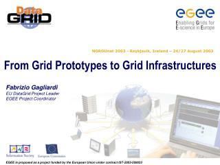 Fabrizio Gagliardi EU DataGrid Project Leader EGEE Project Coordinator