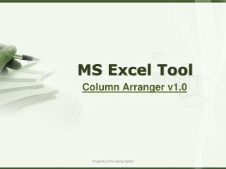 MS Excel Tool