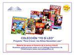 Material de apoyo al fomento de la lectura infantil  Nuestras publicaciones est n en el Cat logo Electr nico de ChileCom