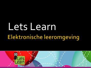 Elektronische leeromgeving