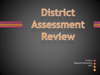 District Assessment Review