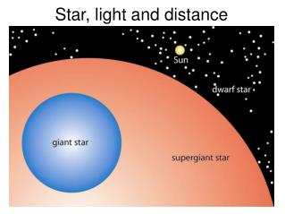 Star, light and distance