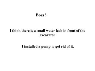 Boss !