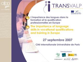 L'importance des langues dans la formation et la qualification professionnelles en Europe