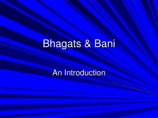 Bhagats & Bani