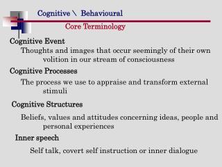 Core Terminology