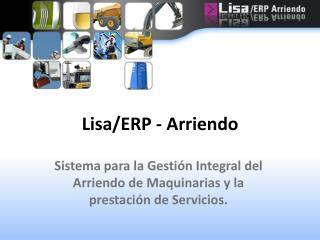Lisa/ERP - Arriendo