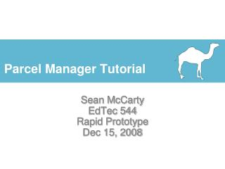 Parcel Manager Tutorial