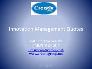 Innovation Management Quotes