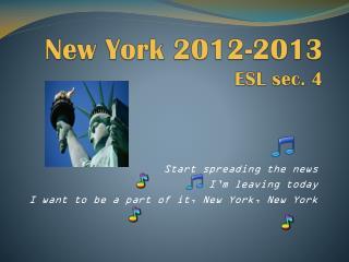 New York 2012-2013 ESL sec. 4