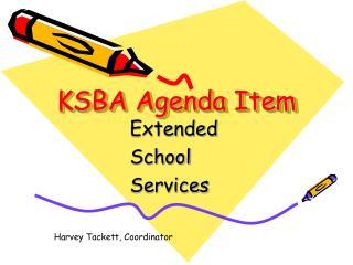KSBA Agenda Item