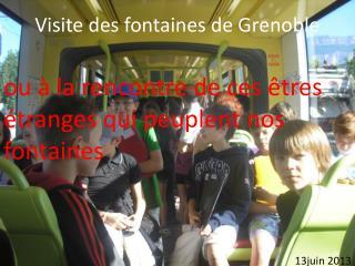 Visite des fontaines de Grenoble