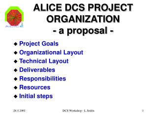 ALICE DCS PROJECT ORGANIZATION - a proposal -