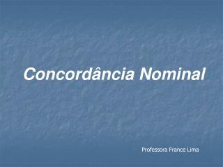 Concord�ncia Nominal