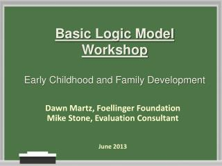 Basic Logic Model Workshop Early Childhood and Family Development