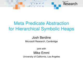 Meta Predicate Abstraction for Hierarchical Symbolic Heaps
