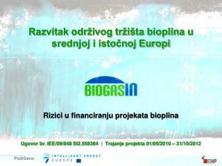 Rizici u financiranju projekata bioplina