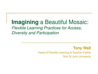 Imagining  a Beautiful Mosaic: Flexible Learning Practices for Access, Diversity and Participation