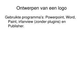 Ontwerpen van een logo